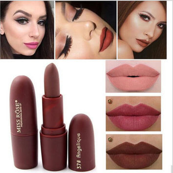 MISS ROSE Matte Long-lasting Lipstick Lips Makeup Cosmetics Waterproof Pintalabios Batom Mate Lip Gloss Rouge A Levre Labial