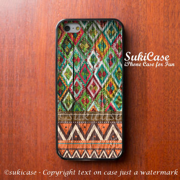 iPhone 6 Case Wood Aztec Wooded Native iPhone Case