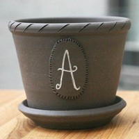 Custom Monogram Plant Pot by BrooklynPottery