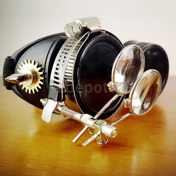 Steampunk Goggles Glasses Welding Cyber Punk Biker Gothic Rave Cosplay