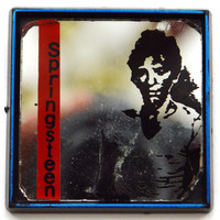 Vintage 70s Bruce Springsteen Mirror Button Pinback Badge Pin