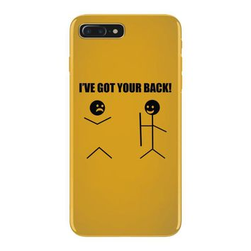 i've got your back t shirt tee funny novelty tee pun stick figure joke iPhone 7 Plus Case