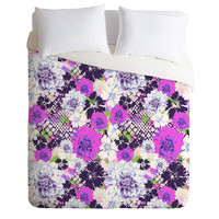 Aimee St Hill Croc And Flowers Blue Duvet Cover
