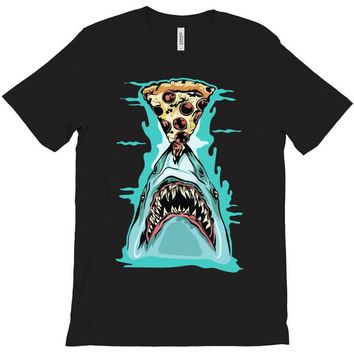 pizza shark graphic T-Shirt