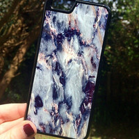 Marble Blue Stone Print iPhone 5 5S Hipster Phone Case