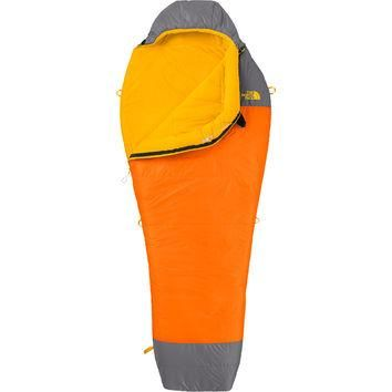 The North Face Lynx Sleeping Bag: 40 Degree Synthetic Bryce Orange/Zinc Grey,