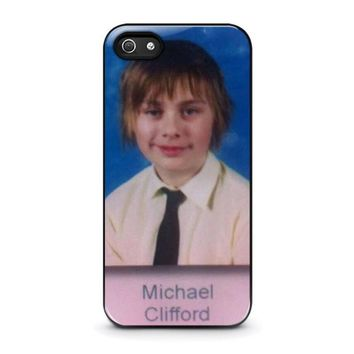 5sos michael clifford iphone 5 5s se case cover  number 1