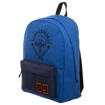 MPBP Blue Minecraft Backpack  Minecraft Explore Create Bag