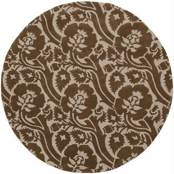 Area Rug - 8' - Colors Include Dark Beige And Sepia