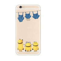 Minions Turn Back Jeans iPhone 6s 6 Transparent Clear Soft Case