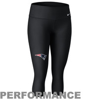 Nike New England Patriots Ladies Performance Capri Pants - Black
