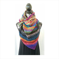 Blanket Scarf, Blanket Scarf Wool, Handmade Scarf,  Silk Scarf, Winter Fashion