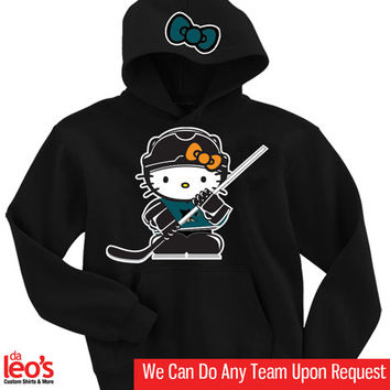 Hello Kitty San Jose Sharks Hoodie  2 Prints FrontHood by DALEOS