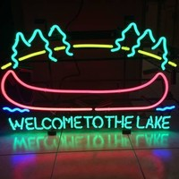 Welcome To The Lake Neon Sign Real Neon Light