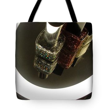 Glitter Polish On Mirror Tote Bag