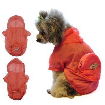 Dog Raincoat Rain jacket and Rainwear Water UV Resistant Hooded Clothes