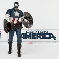 CAPTAIN AMERICA 1/6TH SCALE COLLECTIBLE FIGURE SET