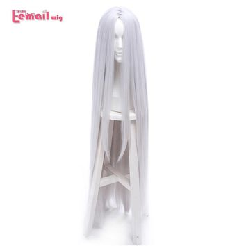 Naruto Sasauke ninja L-email wig  New Arrival 120cm/47.24inches  Kaguya Ootutuki Cosplay Wigs Long Silver Synthetic Hair Peruca Cosplay Wig AT_81_8