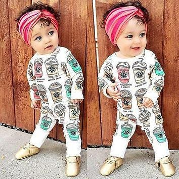 Unisex Baby Clothes Baby Boy Girl Footed Rompers Infant ice cream Baby Romper Long Sleeve Fleece Clothes