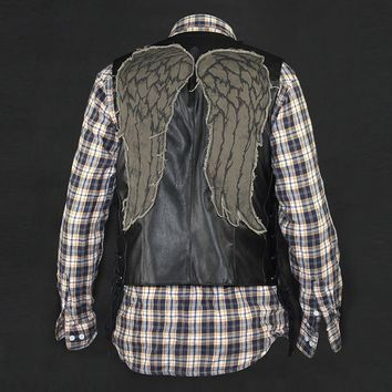 High quality the walking dead cosplay dayrl dixon angel wings vest jacket Motorcycle vest