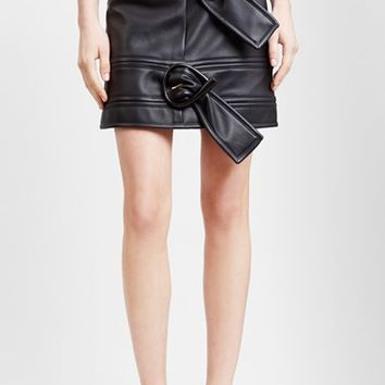 Women's J.W.ANDERSON Double Buckle Nappa Leather Skirt