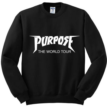 "Justin Bieber ""Purpose The World Tour"" Logo Crewneck Sweatshirt"