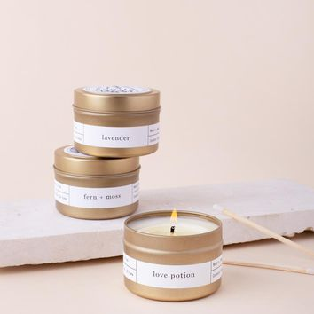 Pick 3 Gold Travel Candles ($42 Value)