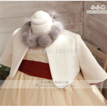 2016 Fashionable Baby Girl Jacket For Winter Girl Coat Baby-girl Bolero Hot Sale Free Shipping High Quality Materials