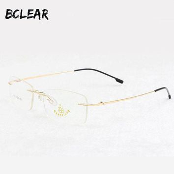 ac NOOW2 BCLEAR Memory titanium rimless optical frame  flexible prescription spectacle eyewear for men women most popular eyeglasses 772