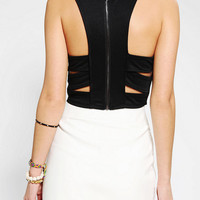 Silence & Noise Cutout Back Cropped Top