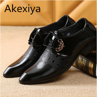 Akexiya 2017 Office Men Dress Shoes Italian Wedding Man Casual Shoes Oxfords Suit Shoes Man Flats Leather Shoes Zapatos Hombre