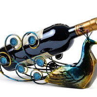 Hot Sale Peacock Wine Holders Wine Rack Bottle Rack Wine Racks Wine Glass Rack