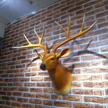 The American Animal deer head wall mural Home Furnishing living room Club KTV background decoration