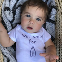 Will Weld for Milk Infant Organic Onesuit