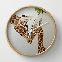 Mother's Love Wall Clock by Jaclyn Celeste