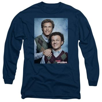 Step Brothers Long Sleeve T-Shirt Portrait Navy Tee