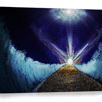 Liberation - Canvas Print, Visionary Art, Psychedelic Art Print, Digital Painting.