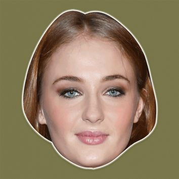 Bored Sophie Turner Mask - Perfect for Halloween, Costume Party Mask, Masquerades, Parties, Festivals, Concerts - Jumbo Size Waterproof Laminated Mask