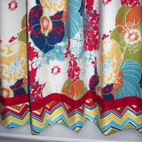 Kitchen cafe curtains - 2 panels/ Tiers - Valance sold seperately / floral / Kitchen/ Bath/ Laundry/ Bedroom/ Sunroom