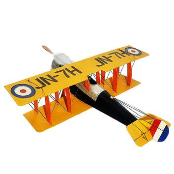 Large Scale Full-Iron Handmade Model Plane - Military US WWI Curtiss JN-4 - 🎖️🇺🇸🦅✈️💣