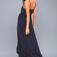 Stars in Your Eyes Navy Blue Maxi Dress