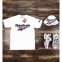 """Reebok"" Popular Women Men Leisure Letter Print Short Sleeve Round Collar Couple T-Shirt Top I-XMCP-YC"