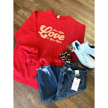Put a Little Love in Your Heart Sweatshirt (S-2XL)