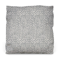 Hand Knit Grey Throw Pillow