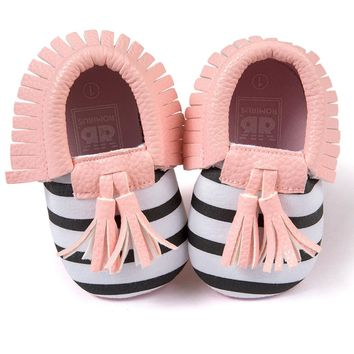 Baby Cute Shoes 2017 New Fashion Toddler Infant Unisex Girls Boys Soft Anti-slip PU Leather Baby Crib Tassel Moccasins Shoes