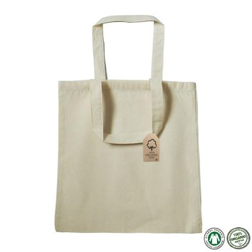 Organic Cotton Canvas Tote Bag 100% Certified - OR100