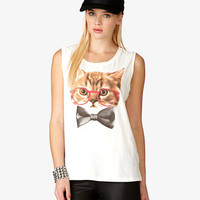 Glasses Cat Muscle Tee