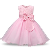 Rosette and Bow with Glitter Tulle Dresses - 8 Colors