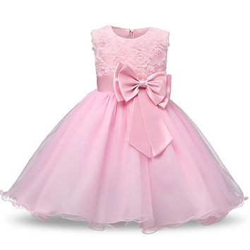 Toddler Girls Baptism Clothes Newborn Baby Kids Christening Ball Gown Dress For Girl Infant 1 2 Years Birthday Party Wear Suits