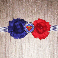 Super Girl Headband!  Super Man Headband!  Supergirl Halloween costume headband!  Baby supergirl, Baby superman